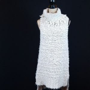 Umgee high low long sleeveless cowl neck sweater